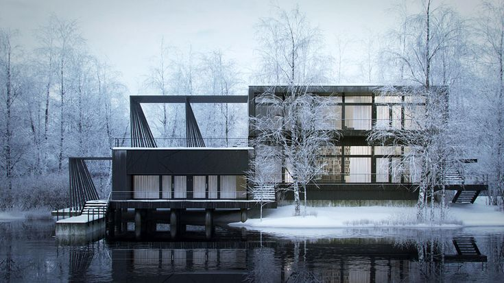 Making of Nordic House - 3D Architectural Visualization & Rendering Blog | Arch Viz Making Of Tutorials | 3d architectural visualization, Architecture visualization, Architecture