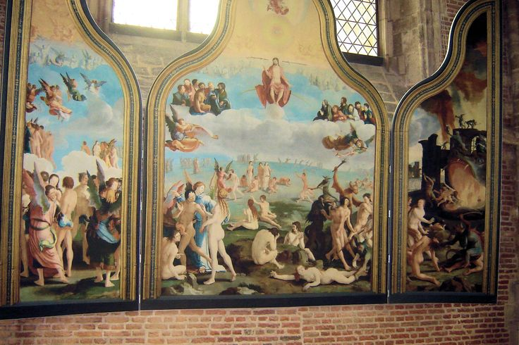Altaarstuk, Lucas van Leyden. Pieterskerk, Leiden.