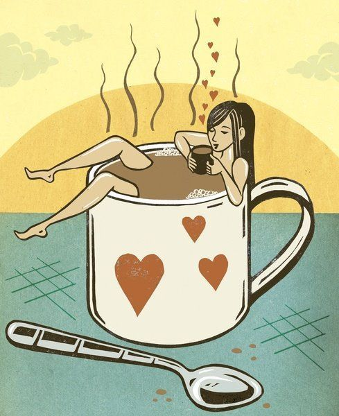 It's time to relax. Immerse yourself in #coffee. #coffeelovers
