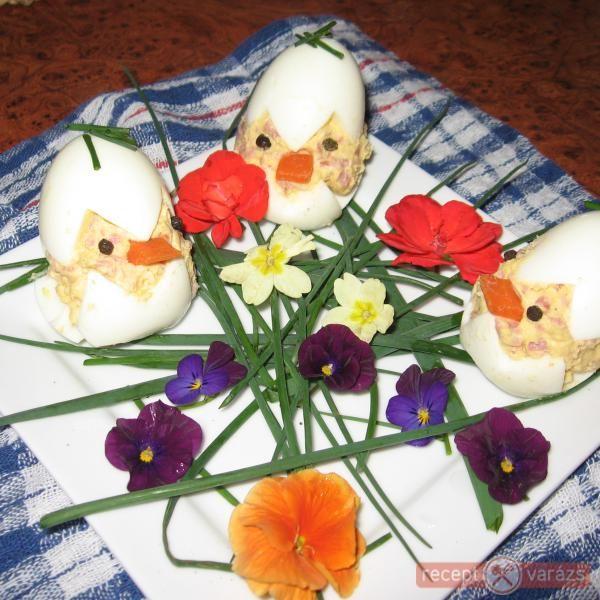 Tavaszi töltött tojás - mókás