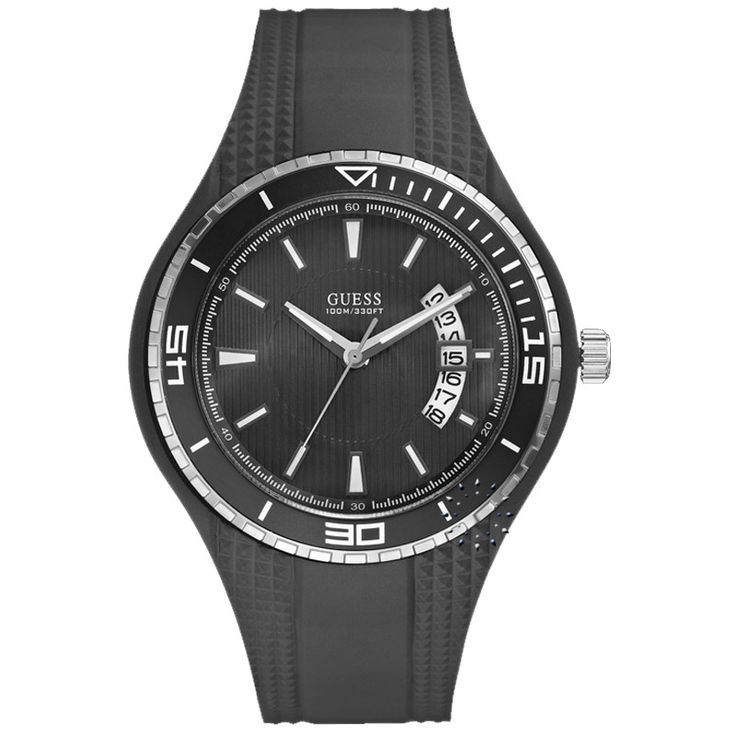 GUESS Sporty Fin Black Rubber Strap Η τιμή μας: 106€ http://www.oroloi.gr/product_info.php?products_id=26784