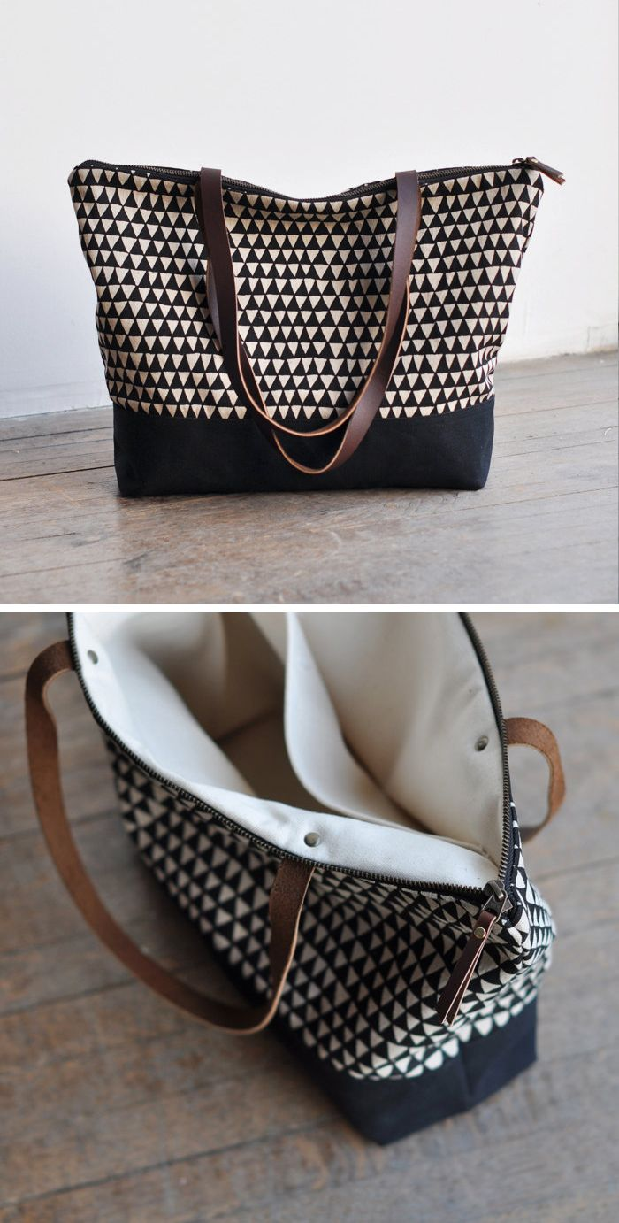 Triangles Tote $100 https://www.etsy.com/shop/bookhouathome?utm_source=keepcomproduction&utm_medium=api&utm_campaign=api