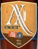Cerveja AX Beer, estilo Extra Special Bitter/English Pale Ale, produzida por Krug Bier, Brasil. 6% ABV de álcool.