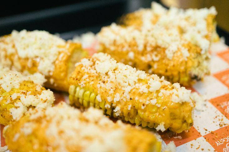 Hong Kong Cray !!! CHINO Taco Tuesdays at Sundays Grocery - Mexican Elotes with chipotle kewpie and Cojita cheese!