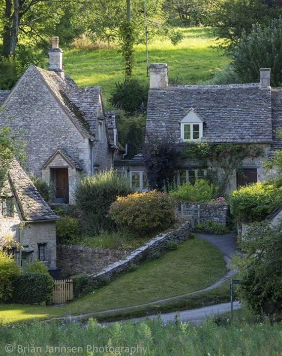 """tassels: """" Arlington Row - homes built for the local weavers, Bibury, Glocestershire, England (by Brian Jannsen Photography) """""""