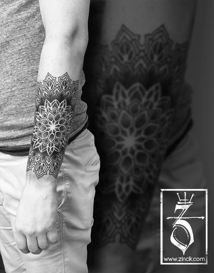 Tattoo Zincik - Czech Tattoo Artist, Mandala dotwork geometric tattoo design, tetování Brno / Praha