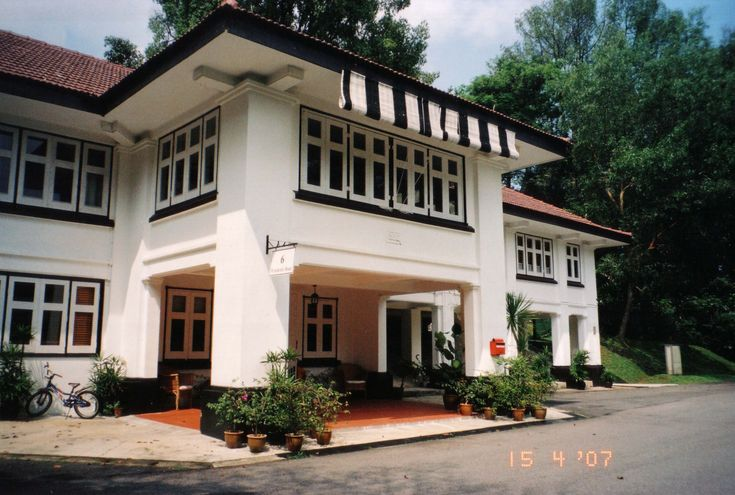 Colonial Real Estate : Best images about black and white houses singapore