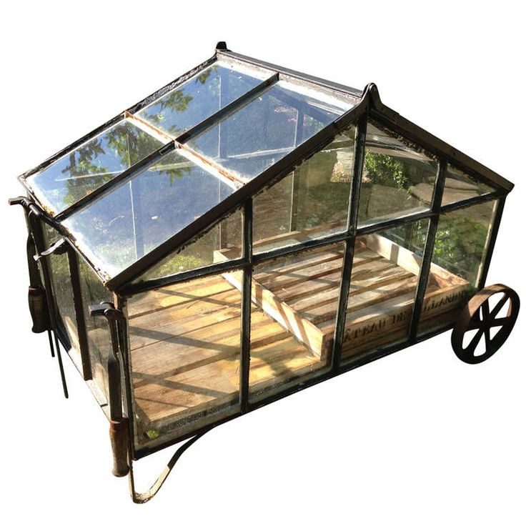 Large Portable Greenhouse Cart | From a unique collection of antique and modern garden ornaments at https://www.1stdibs.com/furniture/building-garden/garden-ornaments/