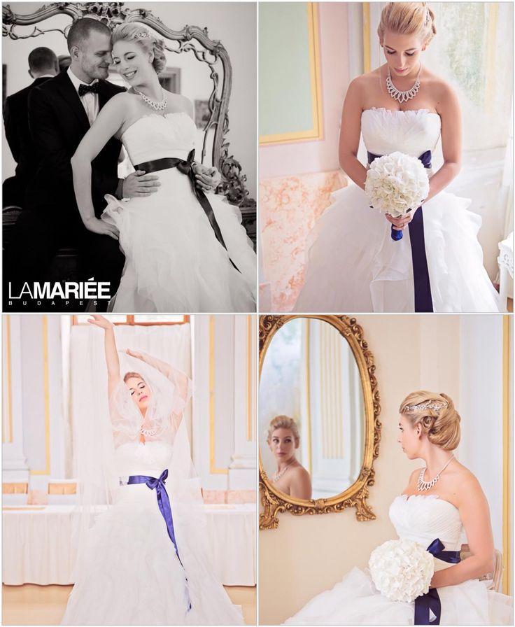 Kinga menyasszony by La Mariée Budapest bridal  #Benicarlo esküvői ruha by Pronovias http://lamariee.hu/eskuvoi-ruha/pronovias-2013/benicarlo