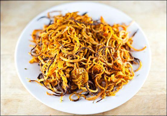 Crispy Sweet Potato Noodles (baked)