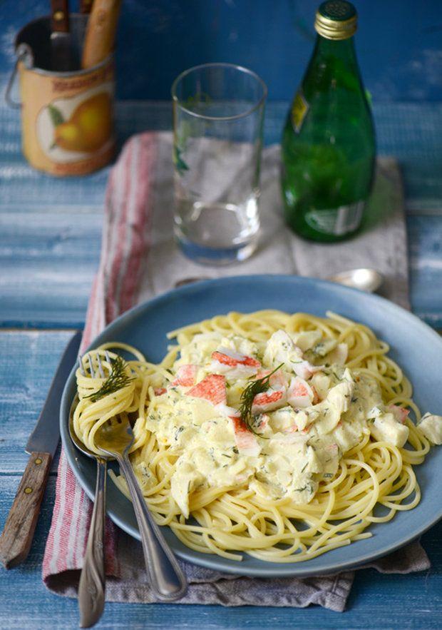 Паста с крабовыми палочками и рикоттой - кулинарный пошаговый рецепт с фото на KitchenMag.ru