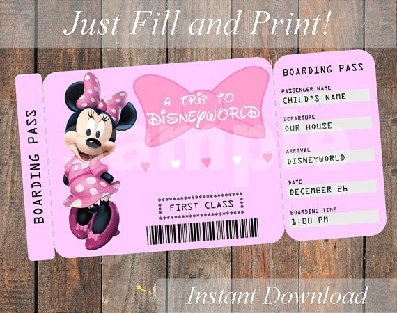 printable ticket to disneyworld disneyland customizable ticket digital file you fill and. Black Bedroom Furniture Sets. Home Design Ideas