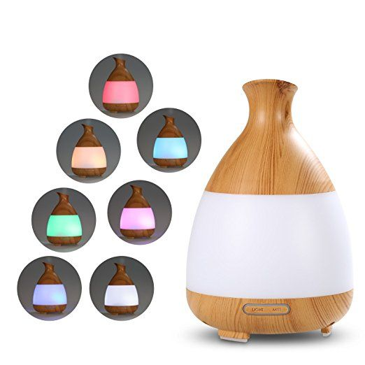 Aroma Diffuser, Euph 120ml Imitation Wood Grain Aromatherapy Essential Oil Diffuser, Electric Ultrasonic Humidifier For Bedroom, study, office, living room, bathroom, yoga room, SPA shop, fitness room , foot hall, conference room , hotel.: Amazon.co.uk: Kitchen & Home