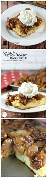 Apple Pie French Toa Apple Pie French Toast Casserole is a...  Apple Pie French Toa Apple Pie French Toast Casserole is a delicious overnight breakfast recipe. If youre looking for the perfect make ahead breakfast to serve for a holiday breakfast this is it! Recipe : http://ift.tt/1hGiZgA And @ItsNutella  http://ift.tt/2v8iUYW