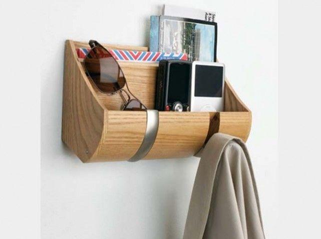 Shopping rangements malins coat hanging mobilier de salon vide poche et casier rangement - Poche de rangement mural ...