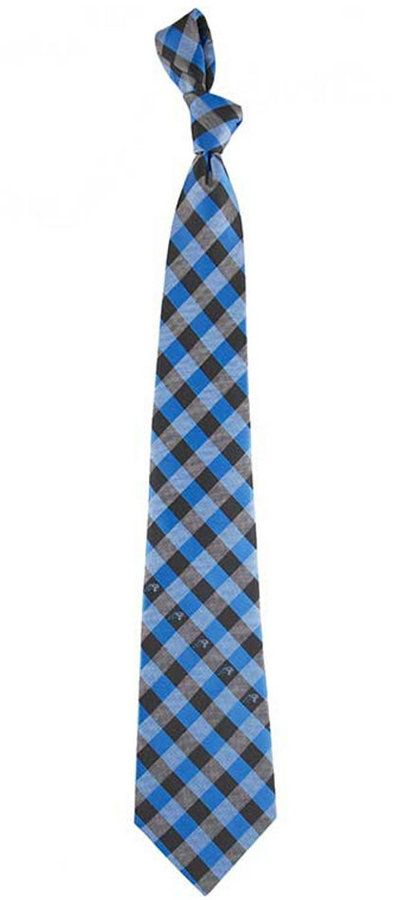 Eagles Wings Carolina Panthers Checked Tie