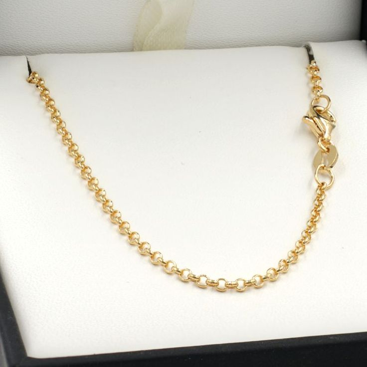45cm Yellow Gold Belcher Chain Necklace - GN-BH