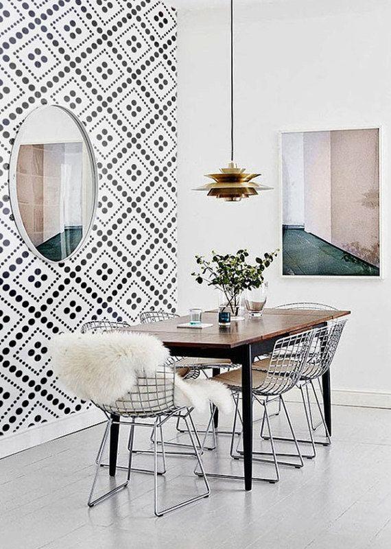 Self adhesive wallpaper , temporary wallpaper,removable wallpaper, geometric wallpaper , geometric pattern,peel and stick wallpaper 025