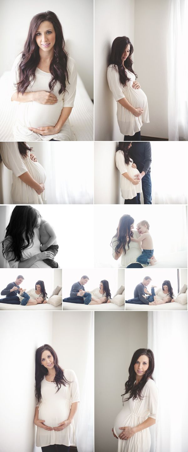 At-home indoor maternity session