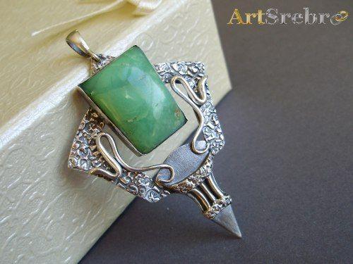 Biżuteria srebro,chryzoparaz - wisior WYPRZEDAŻ http://allegro.pl/wisior-naszyjnik-wirydiana-artsrebro-promocja-i6711202604.html