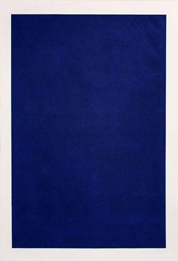 Manera blava 2014 - 2015 - Mezzotint engraving blue east 111 x 76 cm. (paper) 99'5 x 65'5 cm. (plate)