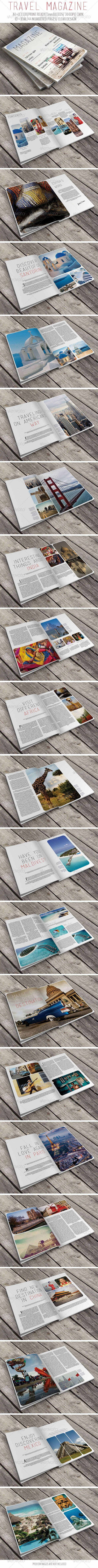 Travel Magazine — InDesign INDD #business #idml • Available here → https://graphicriver.net/item/travel-magazine/6643750?ref=pxcr