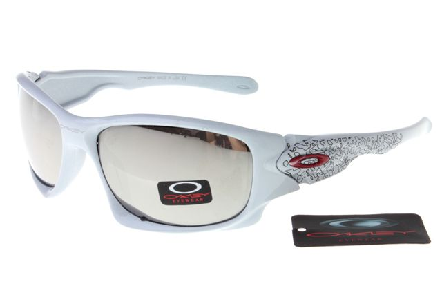 Oakley Crankcase Sunglasses White Frame Silver Lens 0164