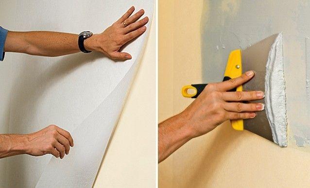 Préparation des surfaces à peindre : coller un voile de verre sur un mur abîmé - http://www.systemed.fr/