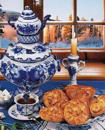Old Samovar, Russian tea drinking
