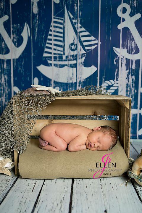 Nautical Inspired Newborn Portrait | Alvin Texas Newborn Photographer | J Ellen Photography 2014 | www.JEllenPhotographyOnline.com