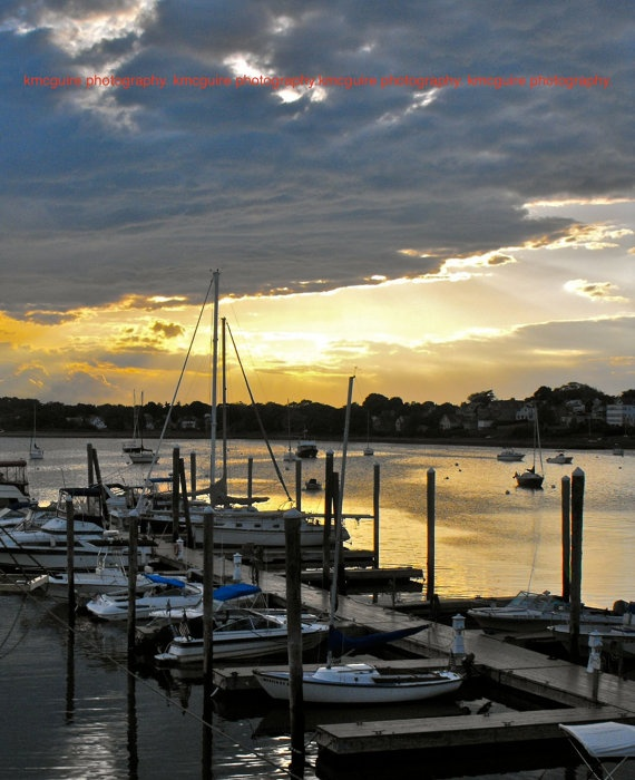 Winthrop Massachusetts  Sunset in Winthrop  by kmcguirephotography, $10.00