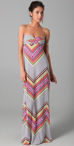 Maxi Dress: Long Dresses, Cute Maxi Dresses, Summer Dresses, Color, Mara Hoffman, Summer Maxi, Strapless Maxi Dresses, Hoffman Maxi, Chevron Maxi