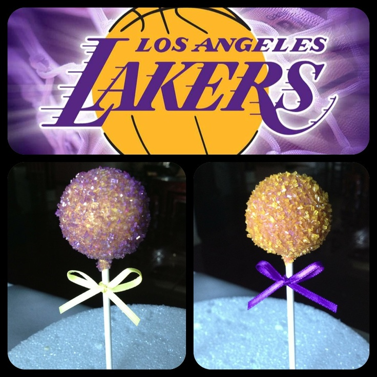 lakers cake pops