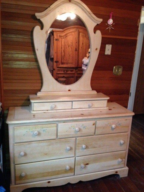 "Vaughan Bassett 'Farmhouse' Collection Three Piece Dresser - $100 OBO   Includes: 7 drawer dresser:  54"" W, 18"" D, 32 1/4"" H   2 drawer accessory case:  36""W, 1..."