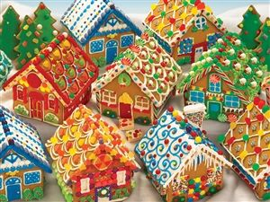 1000pc Gingerbread Houses jigsaw puzzle | 51770 | Cobble Hill Puzzle Company