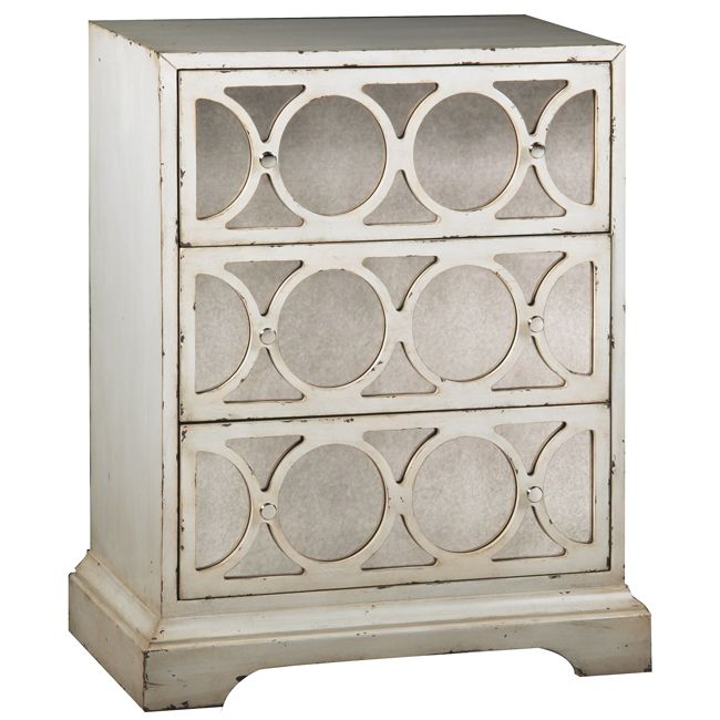 inject stylish into your home with this decorative mirrored accent chest with an antiqued