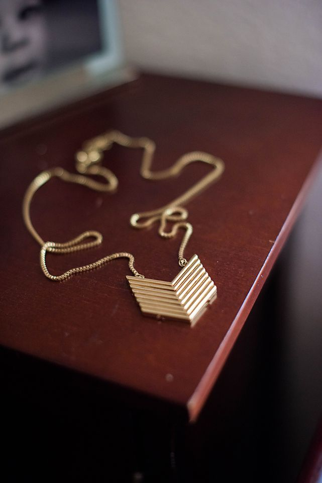 Stitch Fix Genevieve Stacked Chevron Pendant Necklace