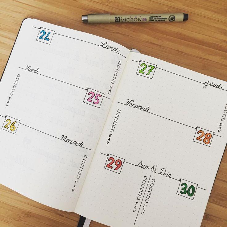"""125 mentions J'aime, 19 commentaires - Caro de la papet' (@caro_de_la_papet) sur Instagram : """"Dernière semaine du mois prête !! ✔️ je l'ai voulu colorée J'espère que ça vous plaira ! Très bon…"""""""