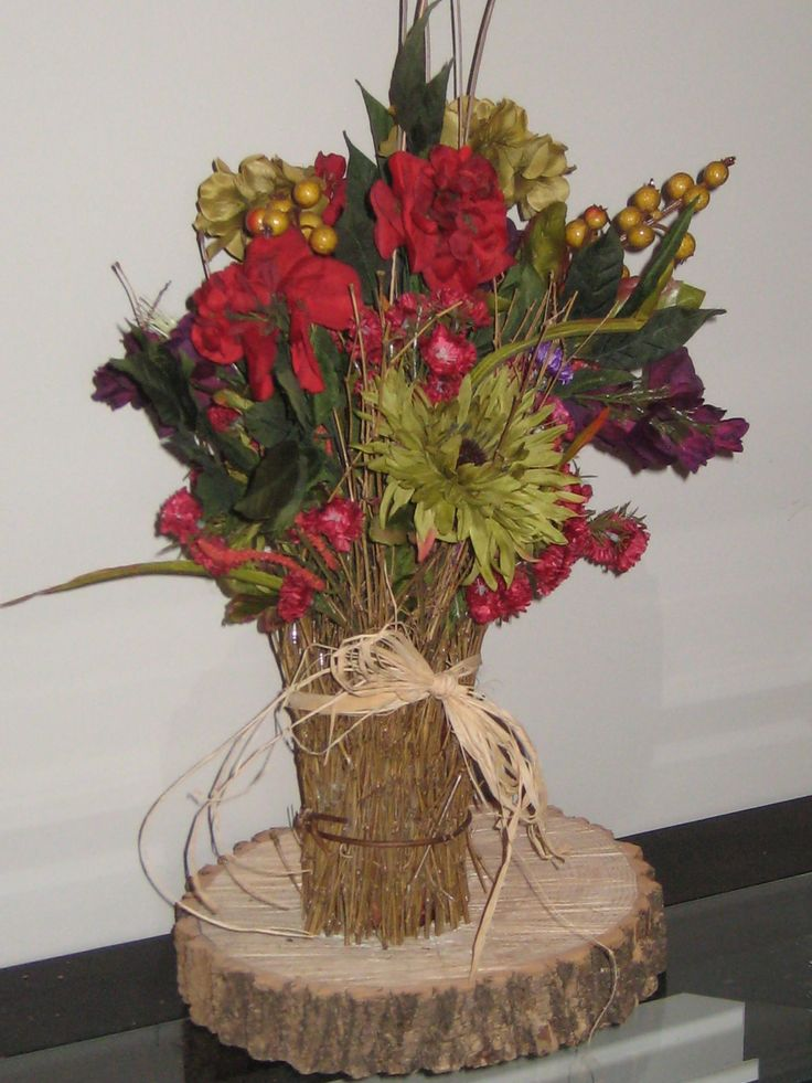 Silk Flower Arrangement for Fall Wedding