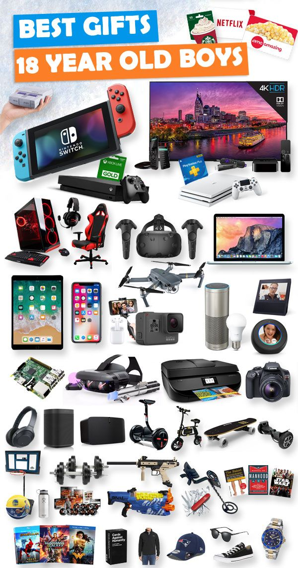 Tons Of Great Gifts For 18 Year Old Boys