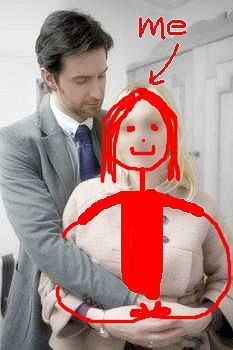 Dear Future Husband Richard Armitage, Please excuse the crude drawing. Although, I have to say, the likeness to me is pretty clear. I mean, the hair- EXACTLY THE SAME- pretty freaky right? This is just a temporary picture for your wallet to show all your friends - don't wear it out ;) wink- wink- Love, ~K
