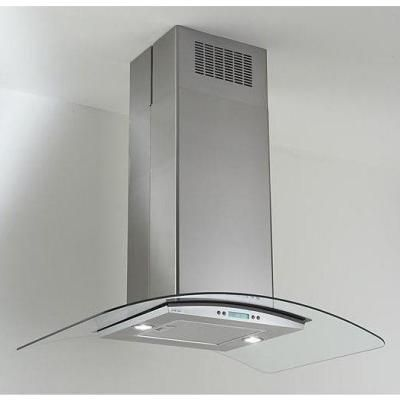 Island Mounted Range Hood In Stainless Steel