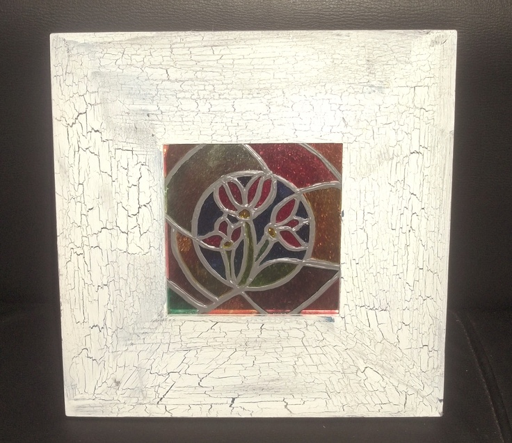 Stained glass mirrors.   Size: 400 mm x 400 mm.  RICE: R120 (ZAR)
