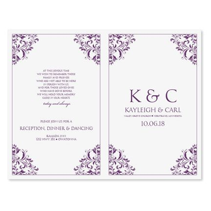 wedding programs templates for microsoft word