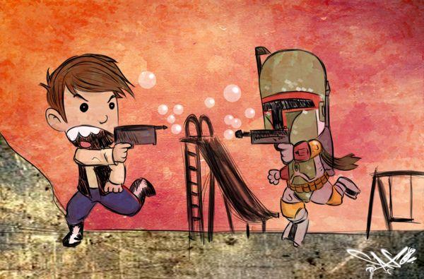Han Solo & Boba Fett Created by Ronald Carmona
