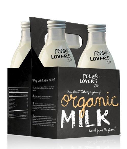 organic milk, packaging, design
