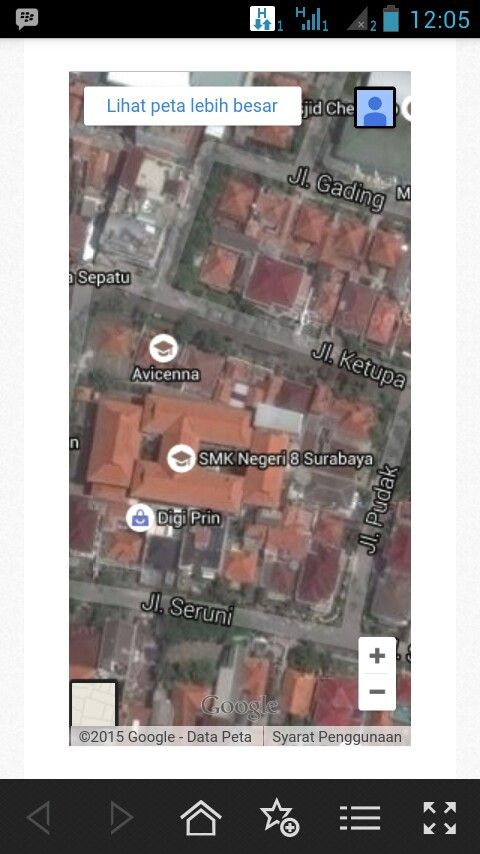 Letak SMKN 8 Surabaya
