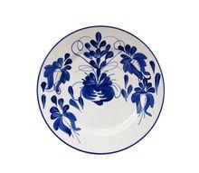 Clásico Dinner Plate. Clásico is El Carmen de Viboral's most recognizable pattern. Bright cobalt blue.