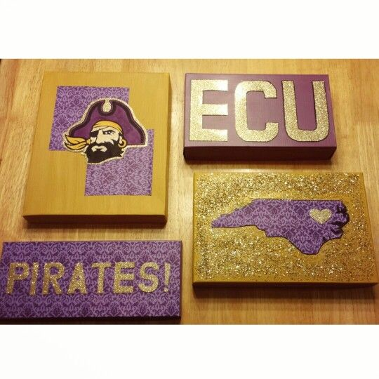 Shoebox canvases. ECU diy decor.