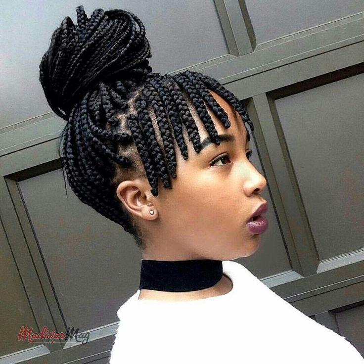 Fringe Braid #boxbraids | Cool braid hairstyles, Small box ...